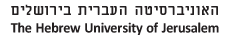 The Hebrew University of Jerusalem